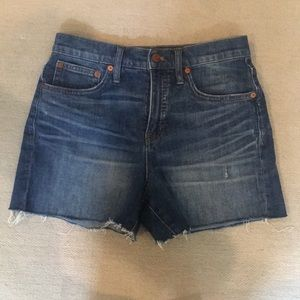 Madewell denim cut off shorts